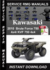 Thumbnail 2010 Kawasaki Brute Force 750 4x4i KVF 750 4x4 Service Repai