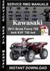 Thumbnail 2011 Kawasaki Brute Force 750 4x4i KVF 750 4x4 Service Repai