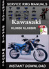 Thumbnail Kawasaki KLX650 KLX650R Service Repair Manual Download