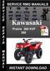 Thumbnail Kawasaki Prairie 360 KVF 360 Service Repair Manual Download