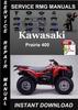 Thumbnail Kawasaki Prairie 400 Service Repair Manual Download