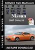 Thumbnail 2007 Nissan 350z z33 Service Repair Manual Download