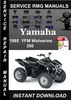 Thumbnail 1995 Yamaha YFM Wolverine 350 Service Repair Manual Download