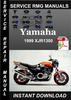 Thumbnail 1999 Yamaha XJR1300 Service Repair Manual Download
