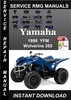 Thumbnail 1998 Yamaha YFM Wolverine 350 Service Repair Manual Download