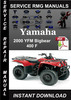 Thumbnail 2000 Yamaha YFM Bigbear 400 F Service Repair Manual Download