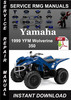 Thumbnail 1999 Yamaha YFM Wolverine 350 Service Repair Manual Download