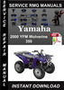 Thumbnail 2000 Yamaha YFM Wolverine 350 Service Repair Manual Download
