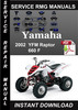 Thumbnail 2002 Yamaha YFM Raptor 660 F Service Repair Manual Download