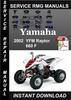 Thumbnail 2002 Yamaha YFM Raptor 660 F Service Repair Manual Download