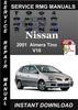 Thumbnail 2001 Nissan Almera Tino V10 Service Repair Manual Download