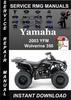 Thumbnail 2003 Yamaha YFM Wolverine 350 Service Repair Manual Download