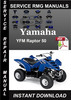 Thumbnail Yamaha YFM Raptor 50 Service Repair Manual Download