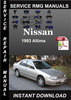 Thumbnail 1993 Nissan Altima Service Repair Manual Download