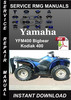Thumbnail 2000 Yamaha YFM400 Bigbear Kodiak 400 Service Repair Manual
