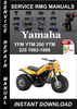 Thumbnail Yamaha YFM YTM 200 YTM 225 1983-1986 Service Repair Manual D