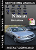 Thumbnail 2001 Nissan Altima Service Repair Manual Download