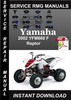 Thumbnail 2002 Yamaha YFM660 F Raptor Service Repair Manual Download
