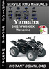 Thumbnail 2002 Yamaha YFM350EX Wolverine Service Repair Manual Downloa