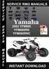 Thumbnail 2002 Yamaha YFM660 YFM660RN YFM660RNC Service Repair Manual
