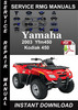 Thumbnail 2003 Yamaha Yfm450 Kodiak 450 Service Repair Manual Download