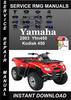 Thumbnail 2003 Yamaha Yfm450 Kodiak 450 Service Repair Manual Download