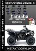 Thumbnail 2003 Yamaha YFM350EX Wolverine Service Repair Manual Downloa