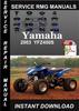 Thumbnail 2003 Yamaha YFZ450S Service Repair Manual Download