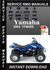 Thumbnail 2004 Yamaha YFM50S Service Repair Manual Download