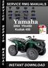 Thumbnail 2004 Yamaha Yfm450 Kodiak 450 Service Repair Manual Download