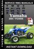 Thumbnail 2004 Yamaha YFZ450S Service Repair Manual Download