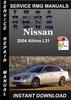 Thumbnail 2004 Nissan Altima L31 Service Repair Manual Download