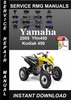 Thumbnail 2005 Yamaha Yfm450 Kodiak 450 Service Repair Manual Download
