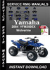 Thumbnail 2004 Yamaha YFM350EX Wolverine Service Repair Manual Downloa