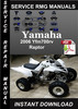 Thumbnail 2006 Yamaha Yfm700rv Raptor Service Repair Manual Download
