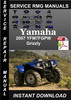 Thumbnail 2007 Yamaha YFM7FGPW Grizzly Service Repair Manual Download