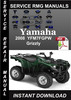 Thumbnail 2008 Yamaha YFM7FGPW Grizzly Service Repair Manual Download
