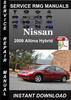 Thumbnail 2009 Nissan Altima Hybrid Service Repair Manual Download