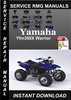Thumbnail Yamaha Yfm350X Warrior Service Repair Manual Download