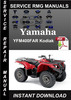 Thumbnail Yamaha YFM400FAR Kodiak Service Repair Manual Download
