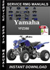 Thumbnail Yamaha YFZ350 Service Repair Manual Download