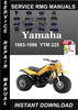 Thumbnail 1983-1986 Yamaha YTM 225 Service Repair Manual Download