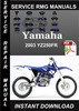 Thumbnail 2003 Yamaha YZ250FR Service Repair Manual Download