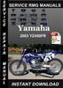Thumbnail 2003 Yamaha YZ450FR Service Repair Manual Download