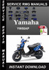 Thumbnail Yamaha YW50AP Service Repair Manual Download