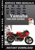 Thumbnail 1995-2000 Yamaha SZR660 Service Repair Manual Downlod