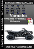 Thumbnail 1995-2000 Yamaha YFM350EX Wolverine Service Repair Manual Do