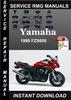 Thumbnail 1999 Yamaha FZS600 Service Repair Manual Download