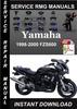 Thumbnail 1998 1999 2000 Yamaha FZS600 Service Repair Manual is a high