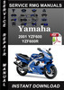 Thumbnail 2001 Yamaha YZF600 YZF600R Service Repair Manual Download